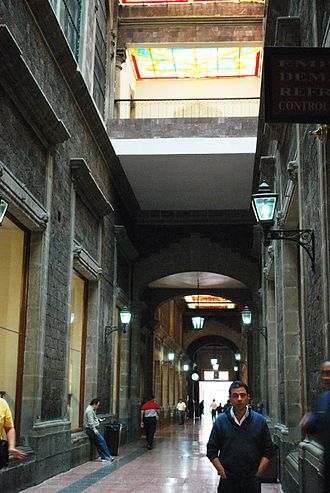 Nacional Monte de Piedad - Main hallway of the building