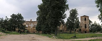Halshany Castle - The ruins in 2007.
