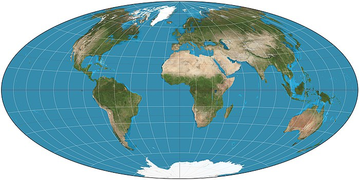 Hammer projection of the world Hammer projection SW.jpg