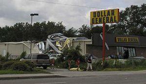 Tropical Storm Bill (2003) - Tornado damage in Hampton, South Carolina