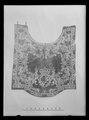 Handhästtäcke, ur en svit om 30 st (4061-4090) med svenska riksvapnet och Karl XIs namnchiffer - Livrustkammaren - 26308.tif