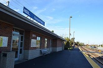 Hanover Park station - Image: Hanover Park Metra Station 10 11 2014