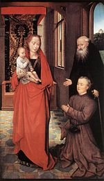 Hans Memling - Virgin and Child with St Anthony the Abbot and a Donor - WGA14849.jpg