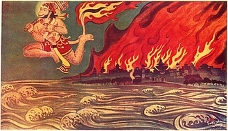 Lanka - Hanuman set fire to Lanka