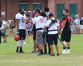 Hard Knocks (TV series) - Hard Knocks filming crew with Jermaine Gresham, 2013