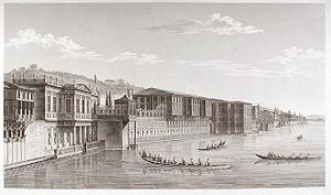 Hatice Sultan (daughter of Mustafa III) - Engraving of the Hatice Sultan Palace, by Antoine Ignace Melling, about 1800