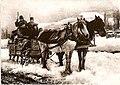Haut Vivarais Traineau sur le plateau en 1905.jpg
