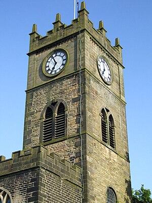 Hayfield - St. Matthew's Parish Church tower