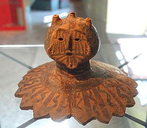 Banshan - Image: Head, Banshan phase, Yangshao culture, neolithic China, c. 2600 2300 BC, ceramic Östasiatiska museet, Stockholm DSC09652