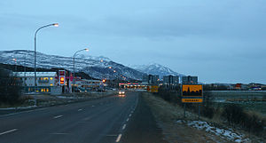 Heading south into Egilsstaðir.jpg