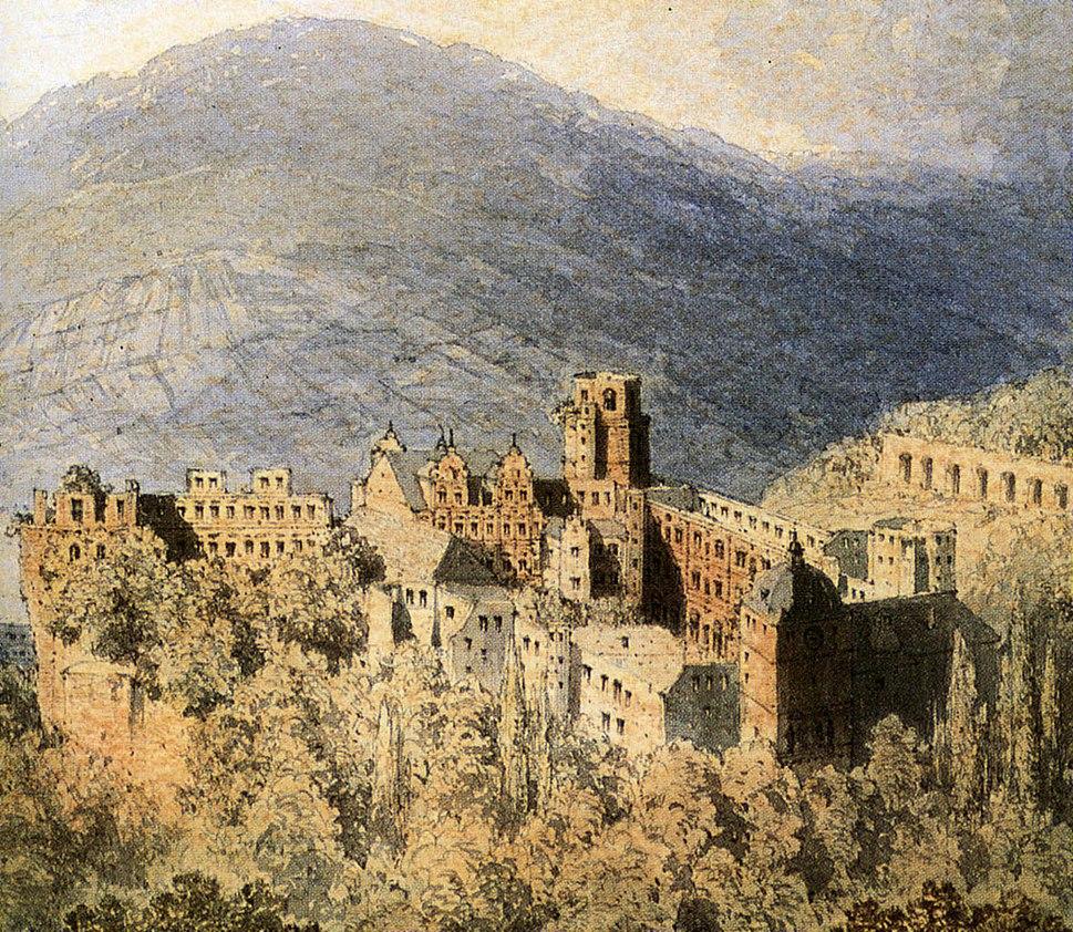 Heidelberger Schloss von Theodor Verhas 1856 Ausschnitt