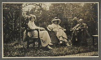 Violet Bonham Carter - Violet Bonham Carter, Lady Ottoline Morrell, and an unidentified man.