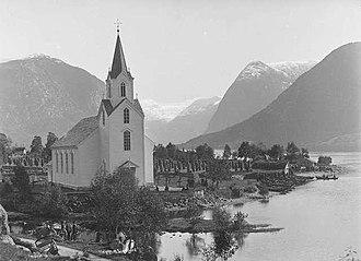 Helgheim Church - Image: Helgheim kyrkje Lindahl