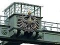 Henrichenburg - LWL-Industriemuseum Schiffshebewerk – preußischer Wappenadler über dem Oberwasser - panoramio.jpg