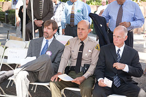 Henry Nicholas - Henry Nicholas with Jerry Brown at the National Day of Remembrance