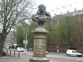 Prince Henry of the Netherlands (1820–1879) - A bust of Prince Henry in Amsterdam
