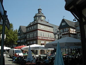 Herborn (Hesse) - The town hall (Rathaus) of Herborn, seen in 2003.