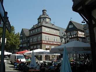 Herborn, Hesse - The town hall (Rathaus) of Herborn, seen in 2003.