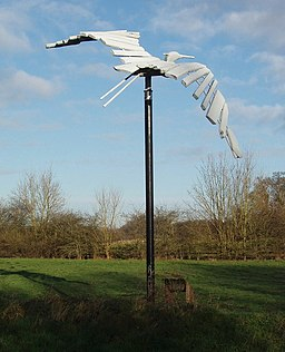 Heron sculpture, Denham Country Park - geograph.org.uk - 663787