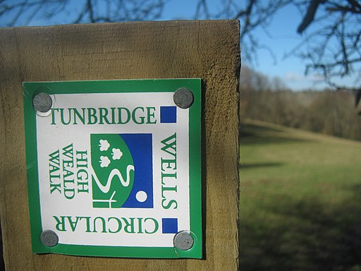 High Weald Walk - Tunbridge Wells Circular Marker - geograph.org.uk - 1732092