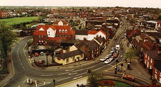 Rayleigh, Essex - Rayleigh High Street as seen from the top of Holy Trinity Church, 2003