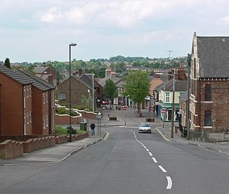 Swadlincote - Image: Hill St Swadlincote