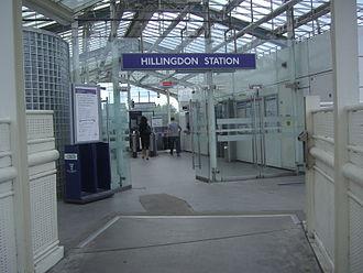 Hillingdon tube station - Interior of the station entrance