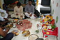 Hindu puja at home, Ahmedabad 05.JPG