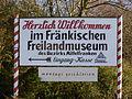 Hinweisschild am Freilandmuseum Bad Windsheim.JPG