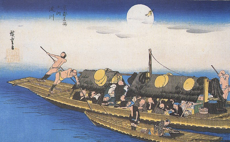 Archivo:Hiroshige A ferry on the river.jpg