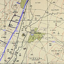 Historical map series for the area of Bayt Jirja (1940s with modern overlay).jpg