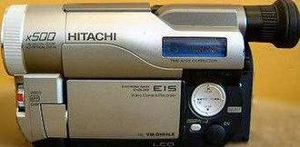 8 mm video format - Hitachi Digital8 Camcorder.