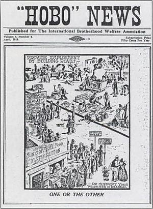 Street newspaper - An early Hobo News front page