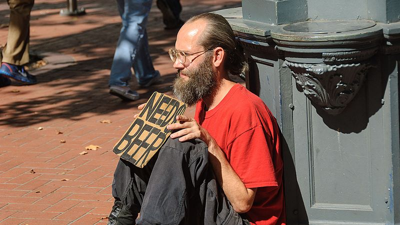 File:Homeless man in Portland, Oregon.jpg