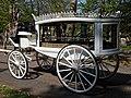 Horse drawn white hearse City of London Cemetery 3.jpg