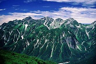 Mount Hotakadake - Mt. Hotaka from Mount Chō