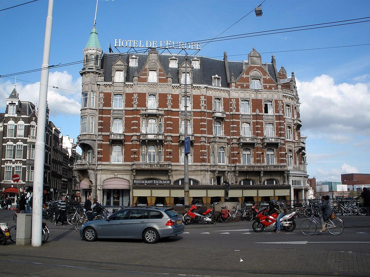 Hotel de l 39 europe wikipedia for B b amsterdam