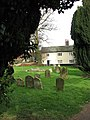 House bordering on churchyard - geograph.org.uk - 704466.jpg