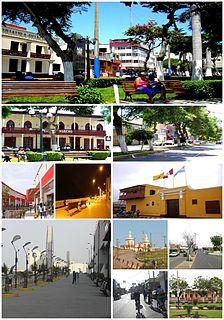 Huacho City in Lima, Peru