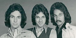 Hudson Brothers in 1974, left to right: Bill, Brett, and Mark