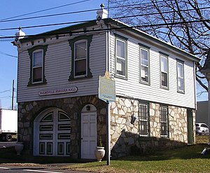 Hulmeville, Pennsylvania - Borough hall in Hulmeville, Pennsylvania.