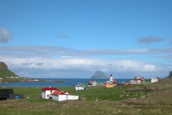 Hvalba, looking towards Lítla Dímun island