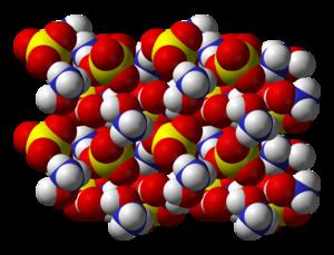 Hydroxylammonium sulfate - Image: Hydroxylammonium sulfate xtal 3D vd W