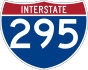 Interstate 295 marker