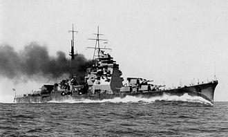 Japanese cruiser Takao (1930) - Image: IJN cruiser Takao on trial run in 1932
