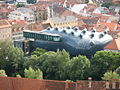 IMG 0475 - Graz - Kunsthaus viewed from Schlossberg.JPG
