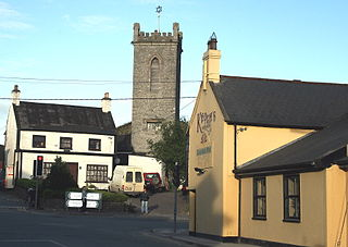 Clane Town in Leinster, Ireland