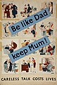 INF3-231 Anti-rumour and careless talk Be like dad - keep mum! (set of twelve human figures talking) Artist Grimes.jpg
