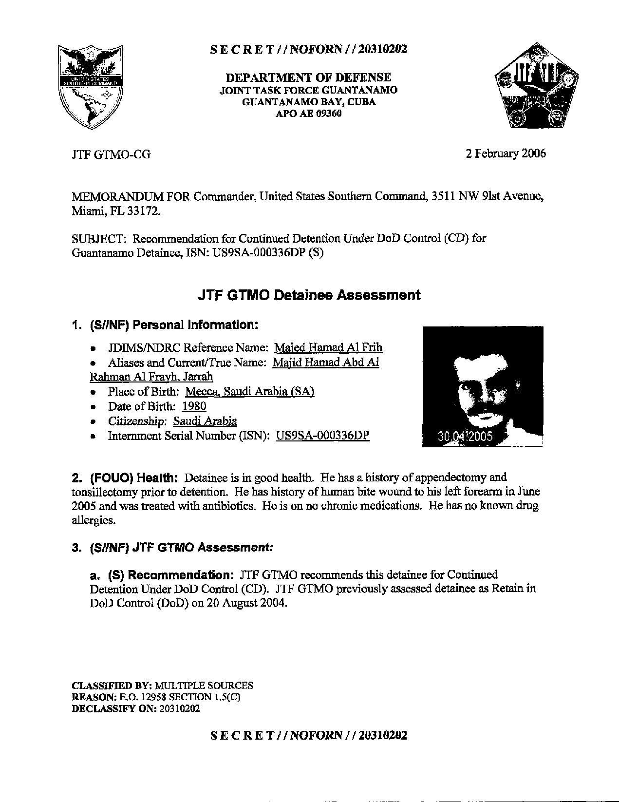 ISN 336's Guantanamo detainee assessment.pdf
