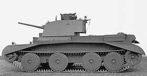 Cruiser tank - The Cruiser Mark III (A13) with large wheels typical of the Christie suspension